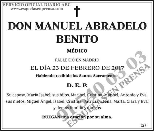 Manuel Abradelo Benito